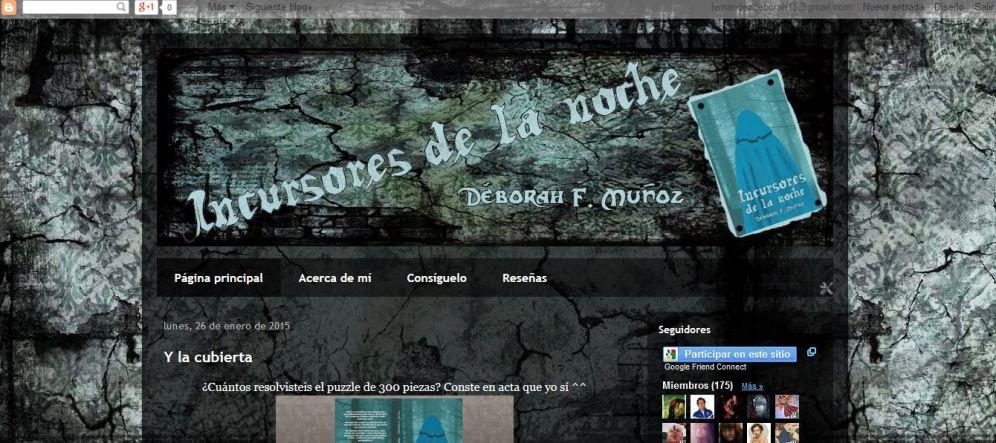 Blog oficial de la novela Incursores de la noche