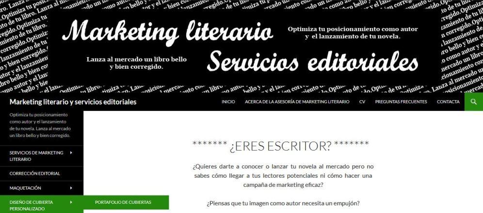 Diseño web de una empresa de servicios editoriales