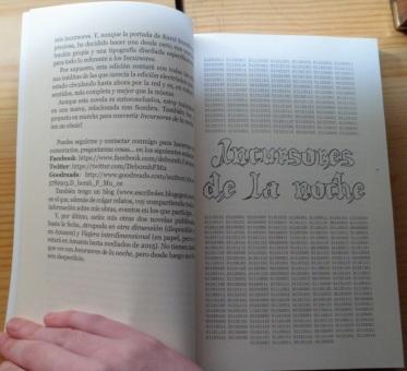 Detalle de maquetación de inicio de sección de Incursores de la noche (2ª edición)