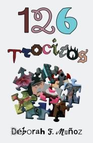 Portada del libro de microrrelatos 126 trocitos, de la escritora Déborah F. Muñoz