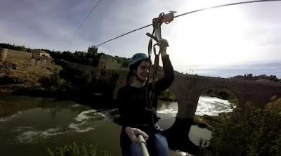 Salto en tirolina en Toledo de la bloguera Déborah F. Muñoz