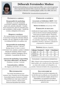 cv de Déborah F. Muñoz