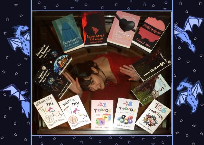 Déborah F Muñoz Con todos sus libros y novelas