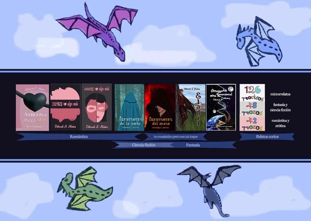 esquema de las novelas y libros de la escritora Déborah F. Muñoz