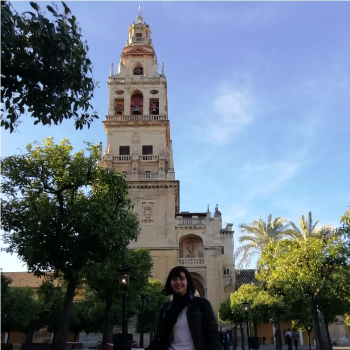 Déborah F. Muñoz en su viaje a Córdoba - mezquita