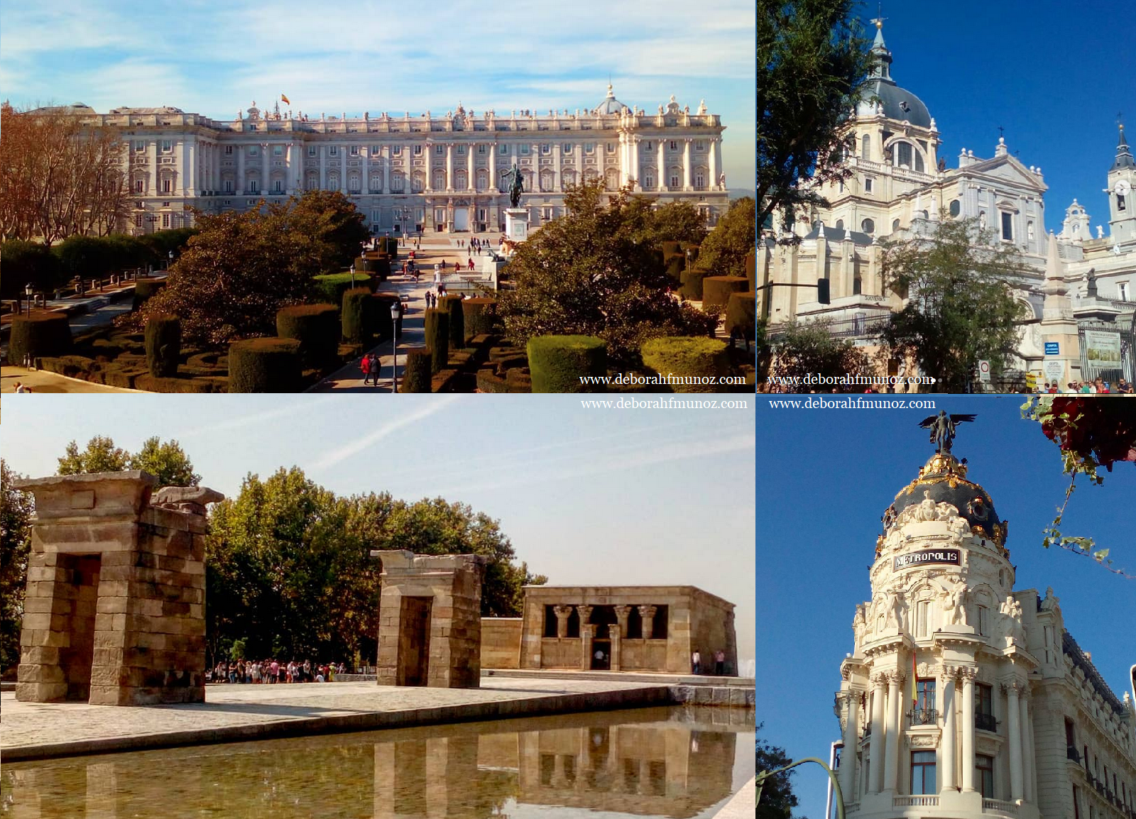 ruta por Madrid - Palacio, Almudena, Templo de Debod, Edificio Metrópolis Gran Vía